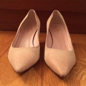 Kate Spade cream suede kitten heel. Size 8B